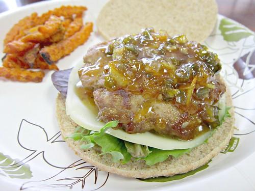 Turkey Burger with Orange Glaze 2