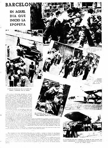 La Vanguardia, 19 de julio de 1938, «Barcelona, en aquel día que inició la epopeya» by Octavi Centelles