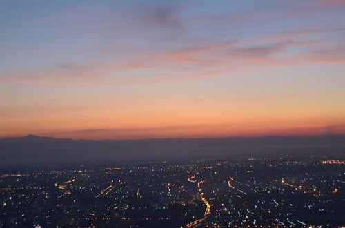 morning winter light sky sunshine thailand chiangmai viewpoint doisuthep could