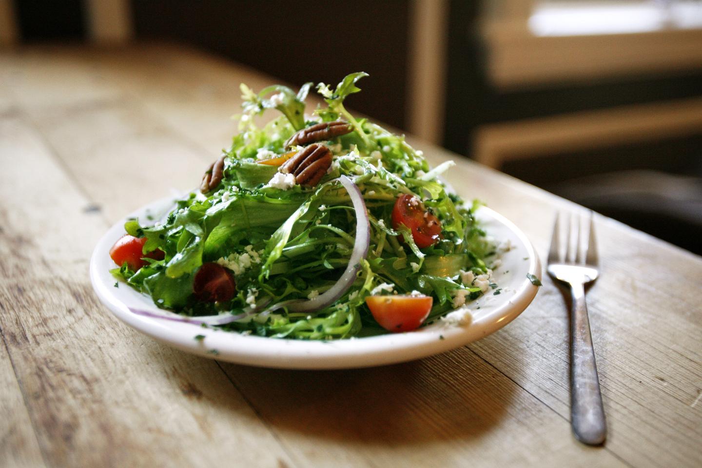 Frisée Salad with Roasted Garlic Vinaigrette