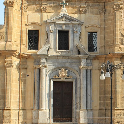 "The Church of #Santa #Maria #dell'Ammiraglio or San #Nicolò dei #Greci, commonly called the #Martorana, overlooking the renowned #Piazza #Bellini in #Palermo, #Sicily.  On account of these ""Arabic"" elements, the Martorana has been compared with its #Paler by Nouhailler"