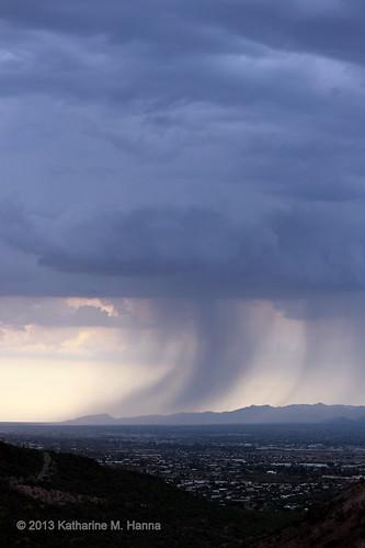arizona rain clouds monsoon nountains