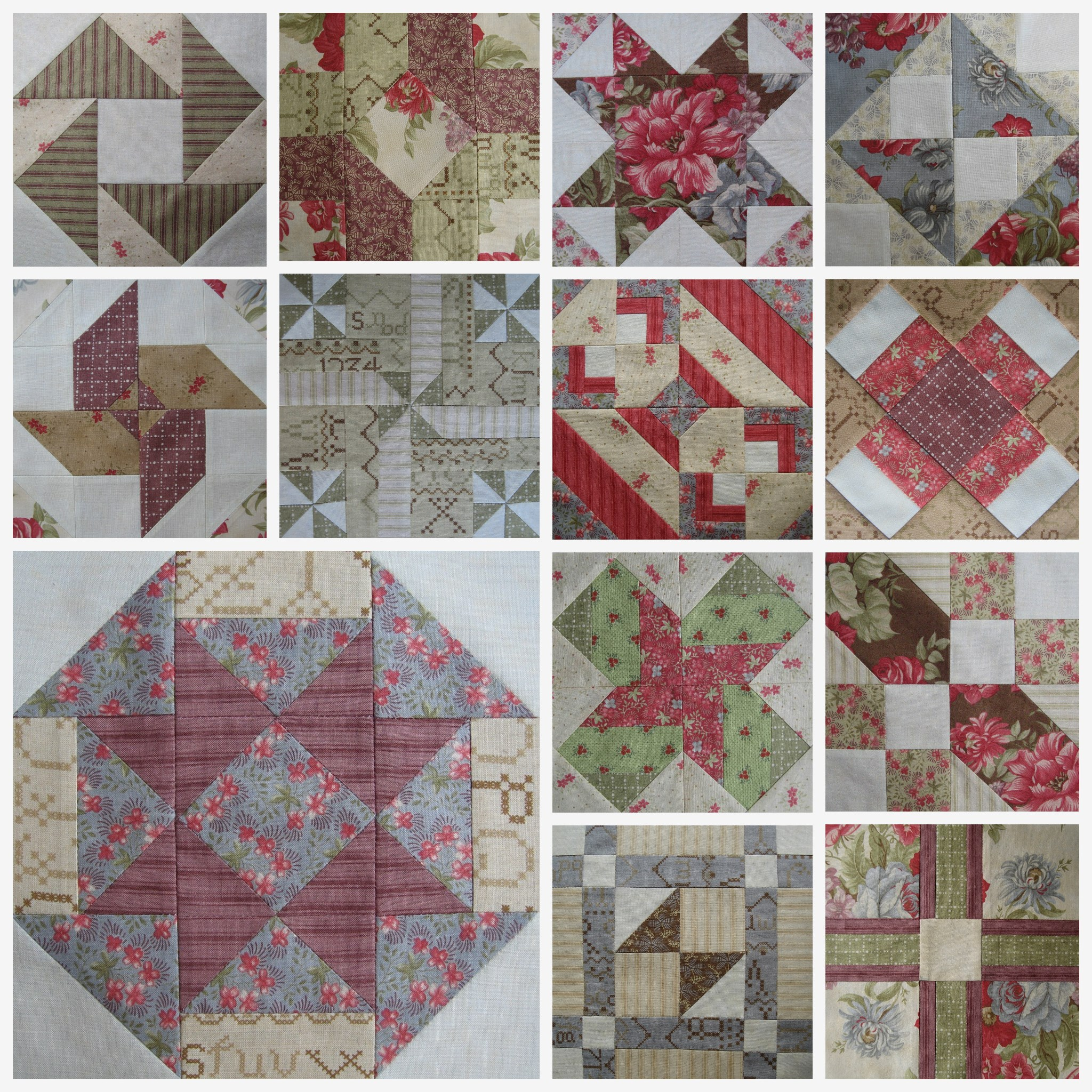Blocks #1-13 - Virtual Quilting Bee
