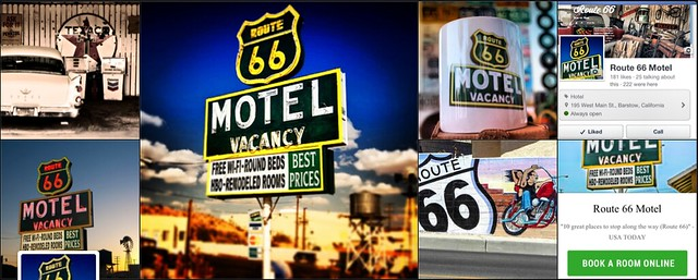 Route 66 Motel collage