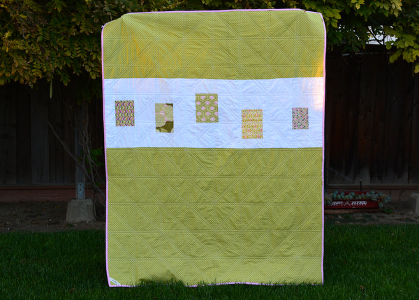 Half Square Triangles Quilt - Back