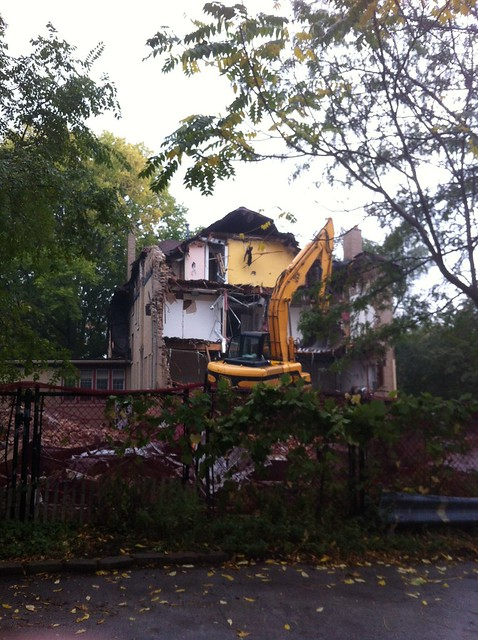 Shambhala Meditation Center of Chicago being demolished