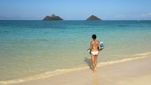 Menschenleerer Lanikai Strand