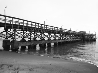 Image of Playa Mansa Mansa Beach near Punta del Este. bw beach uruguay muelle playa maldonado iphone puntadeleste mansa jikatu iphone5s entrenamientomaratonuruguay entrenamientomaraton