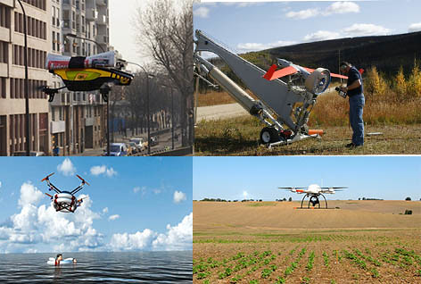 Illustrating some of the dynamic uses for unmanned system.