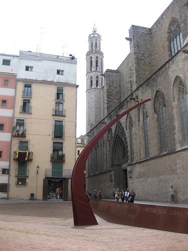 Fossar de les Moreres in El Born. From Foodie Finds: Exploring Barcelona, One Bite at a Time