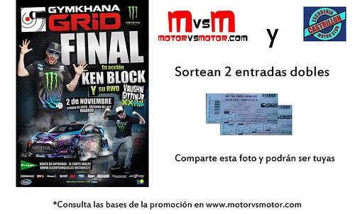 Escudería Castrillon Motor y MotorVSMotor te regalan dos entradas para la gran final Gymkhana GRiD Gauntlete Europea 2013 con Ken Block
