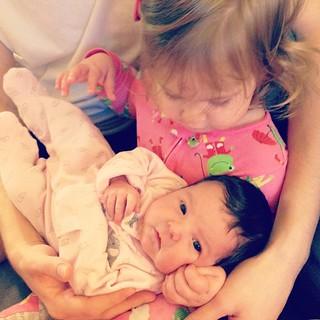 Big sis, little sis.
