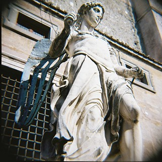 Angel statue in Castel St Angelo, Rome