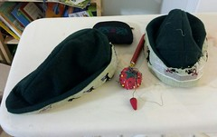 Sewing mouse hats
