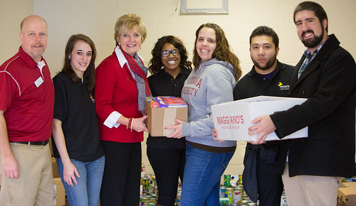 Students donate food for tornado relief