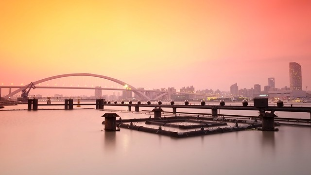 THE TRANQUILITY, Shanghai trip collection - 6, Lupu bridge after sunset 靜靜的瀘浦
