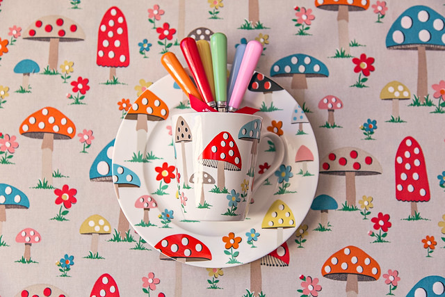 I think I went a bit mushroom crazy - LOVE this print!
