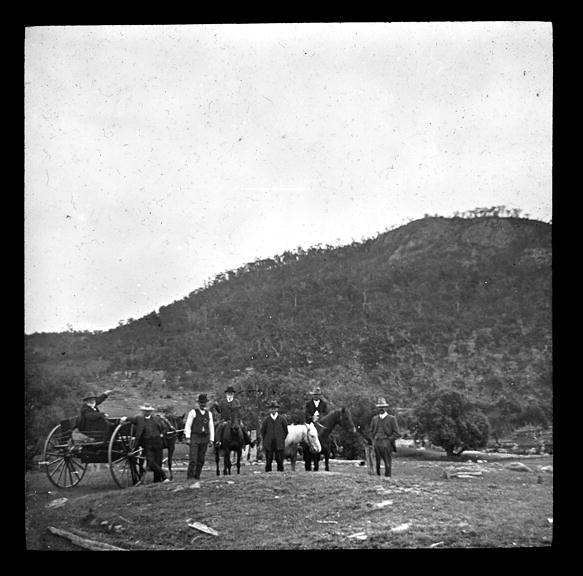 The Convict Stockade near Mt. Blaxland