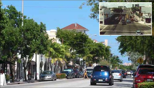 Sunset Drive, South Miami's 'Main Street' (courtesy of Dover Kohl)