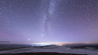 Northernmost Milky Way with the Absence of Comet ISON