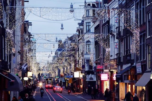 Amsterdam Christmas lights Utrechtsestraat
