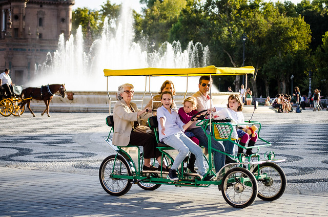 So much family fun to be had in Sevilla, especially at Plaza de España.