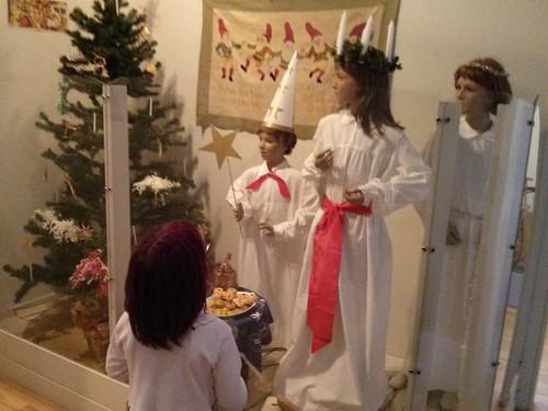 Santa Lucia display