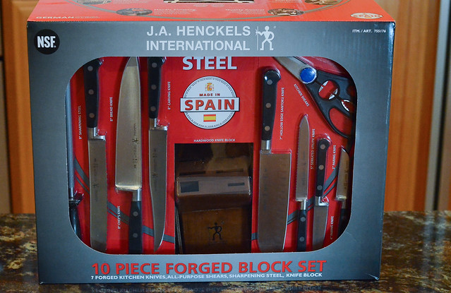 A package of J.A. Henckels knives.