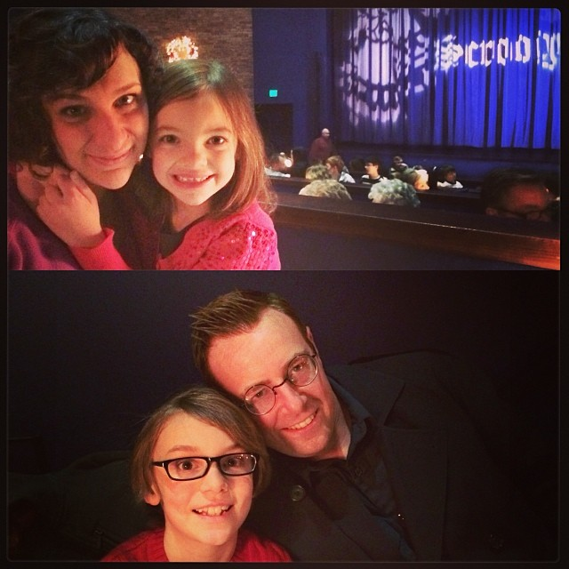 Seeing Scrooge, The Musical with the two older kids. :)