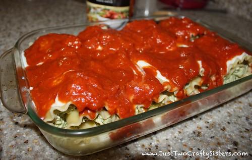 Pesto Lasagna rolls-yum