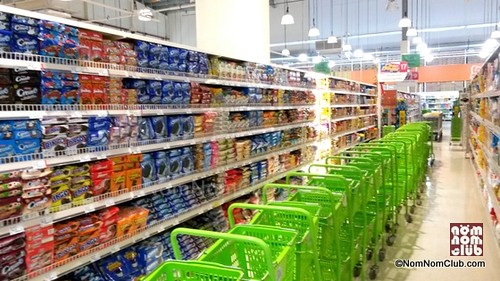 New Grocery Carts in Line at SM Hypermarket