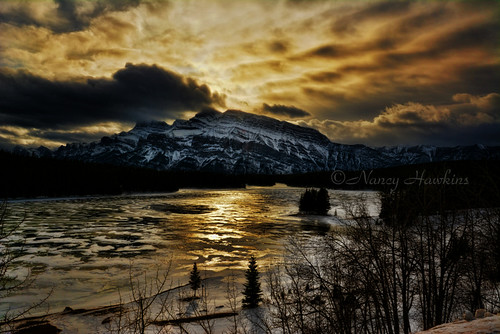 Two Jack Lake, Banff, AB by Nancy Hawkins