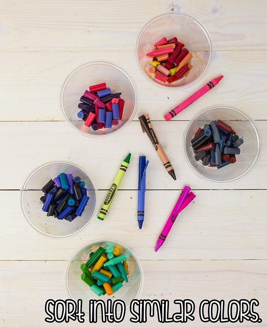 Broken Crayons Sorted By Color