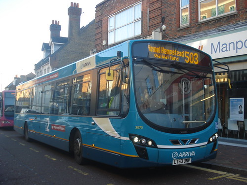 Arriva Shires 3970 on Route 503, Watford High Street
