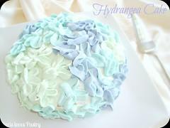Hydrangea Flower Cake