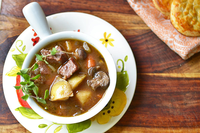 Beef Stew with Bacon via LittleFerraroKitchen.com