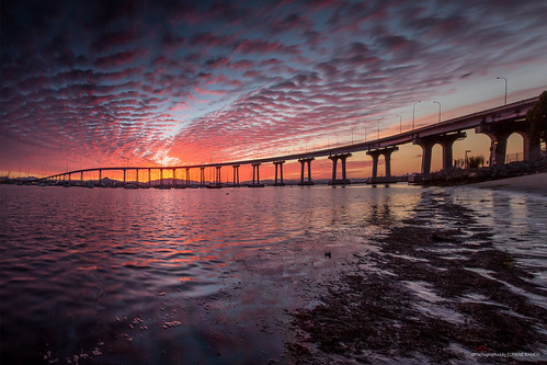 california bridge beach sunrise bay sandiego socal southerncalifornia coronado coronadobridge sandiegobay canon5dmarkiii