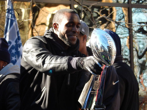 The Vince Lombardi Trophy at the Seahawks Victory Parade