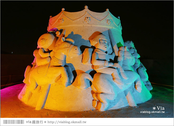 【2014台灣燈會在南投】南投沙雕燈會~夜間點燈好浪漫!還有精彩光雕秀21