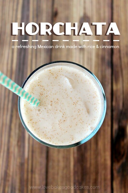 Horchata - a refreshing Mexican drink made with rice & cinnamon #Mexican #drink #beverage #cinnamon