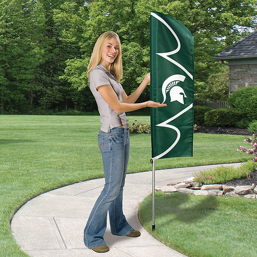Michigan State Short Feather Flag
