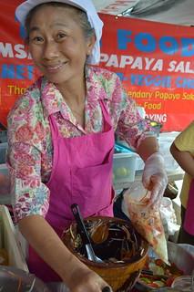 She makes awesome Thai Papaya Salad