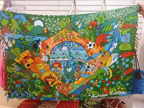 Cangas de Praia Verão 2014  Bandeira do Brasil - Andreza Katsani - LIcenciado - Todos os direitos reservados by Andreza Katsani