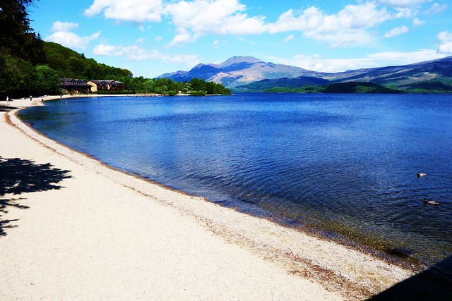 Luss Beach with Ben Lomond in distance