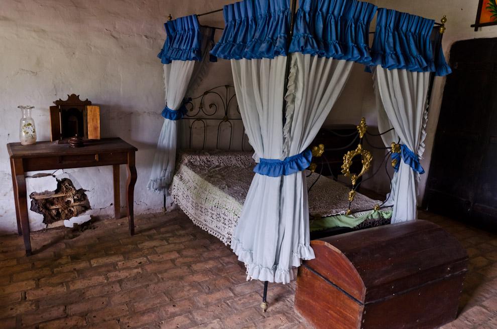 En el museo de Isla Umbu, Departamento de Ñeembucú, aún existe la cama de hierro, artísticamente trabajada, que perteneció a Juanita Pesoa, la amante del Mariscal López. (Elton Núñez)