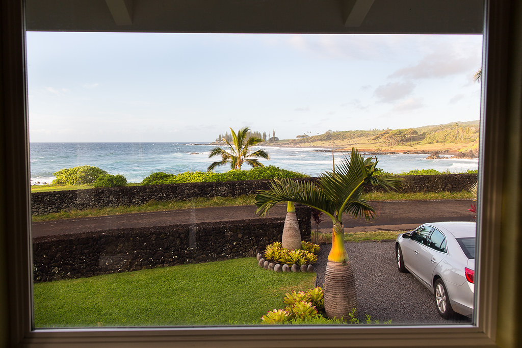View from the Hana Oceanfront Cottage, Maui