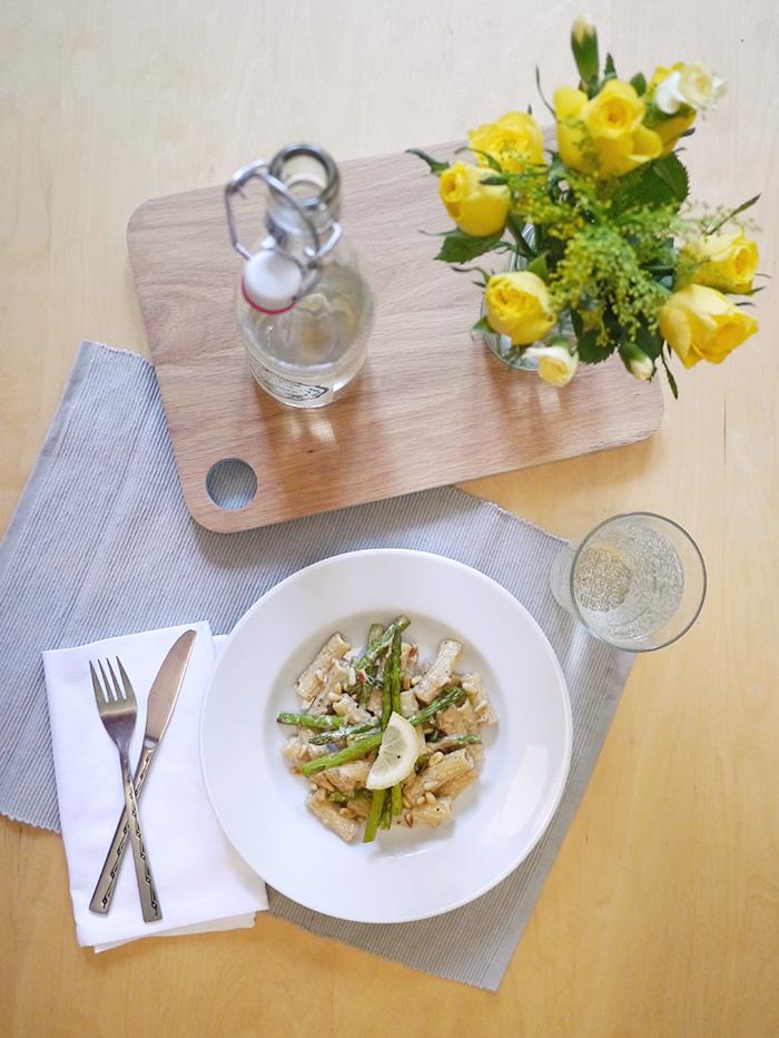 degustabox recipe asparagus and lemon pasta 1