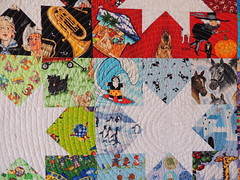 Detail from I-Spy quilt