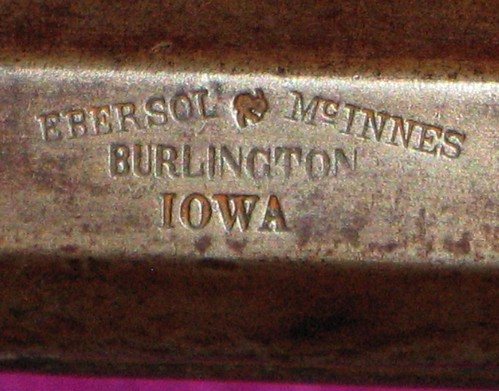 Iowa - Made Rifle, Ebersol & McInnes, Burlington, Iowa