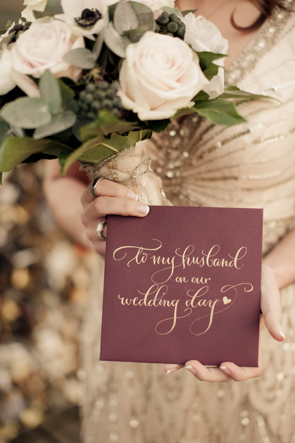 Hello Framboise's Calligraphy Wedding Note